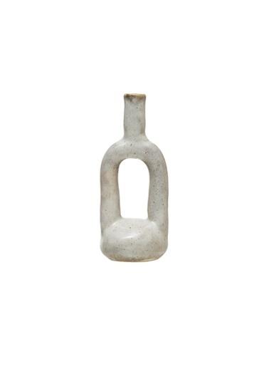 Warm Design Dekoratif Porselen Vazo Beyaz